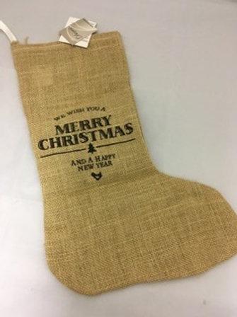 Brown hessian Christmas sack