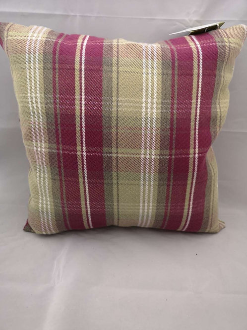 Wrap sterling check heather cushion