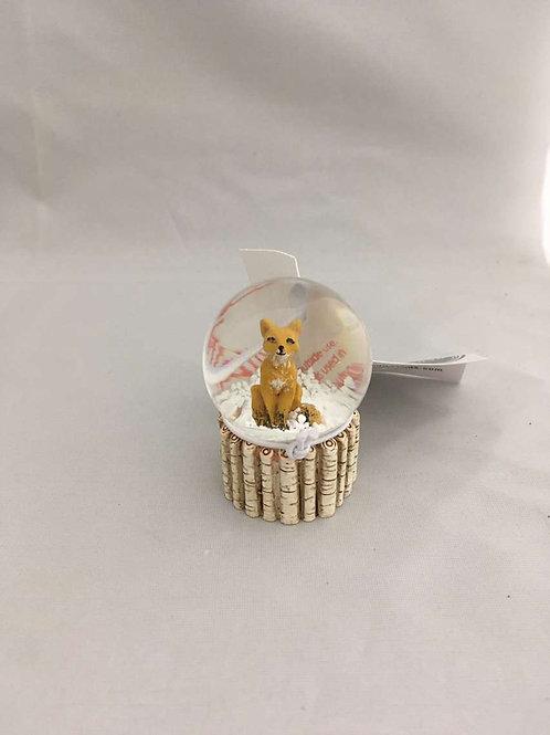 Mini fox snow globes