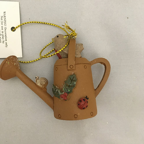 Watering can tree ornament
