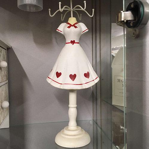 Heart dress jewellery holder