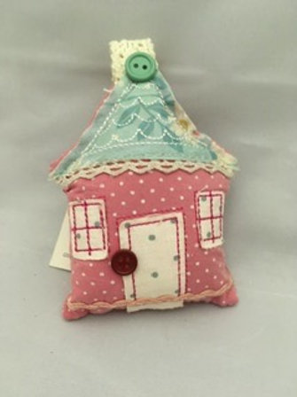 Pink house tree ornament