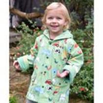 Down On The Farm Print Raincoat
