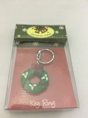Christmas wishes key ring