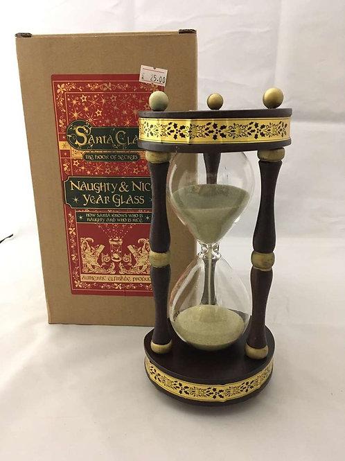 Naughty or nice hourglass