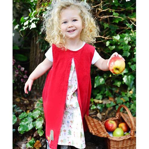 Red Riding Hood 'A' Line Cord Dress