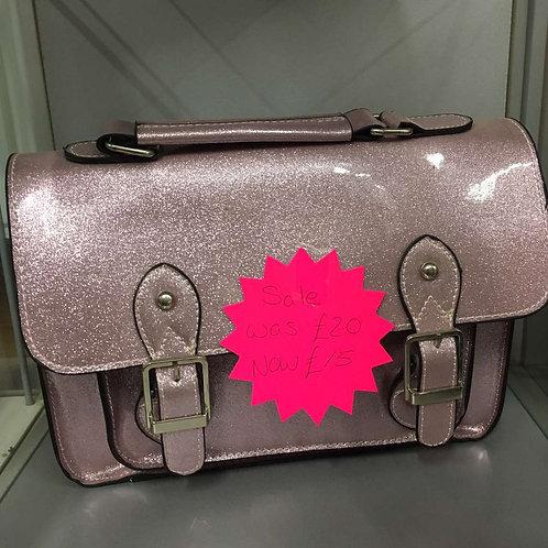 Pink sparkly bag