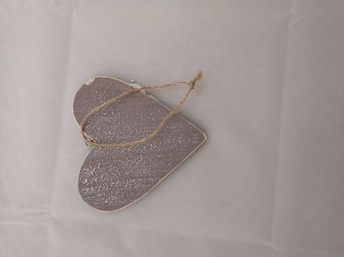 Grey wooden heart