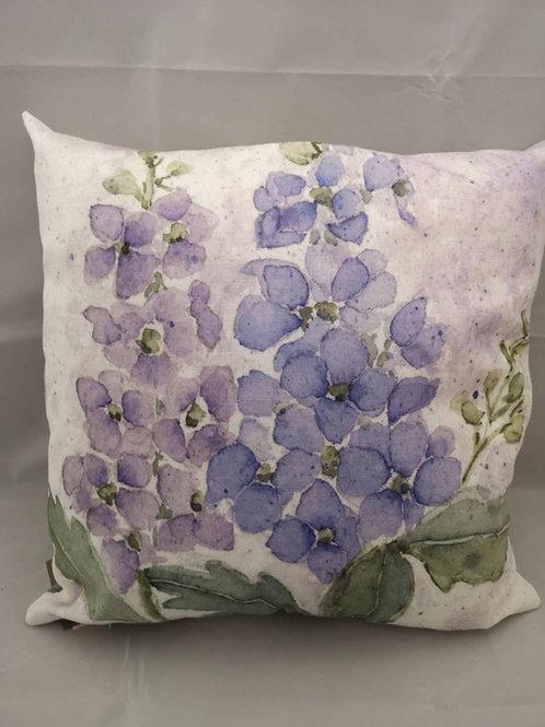 Delphinium florals cushion