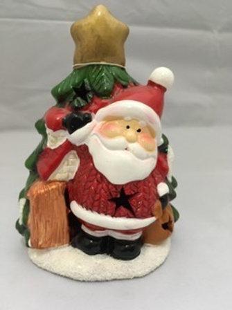 Ceramic LED Santa and Christmas tree