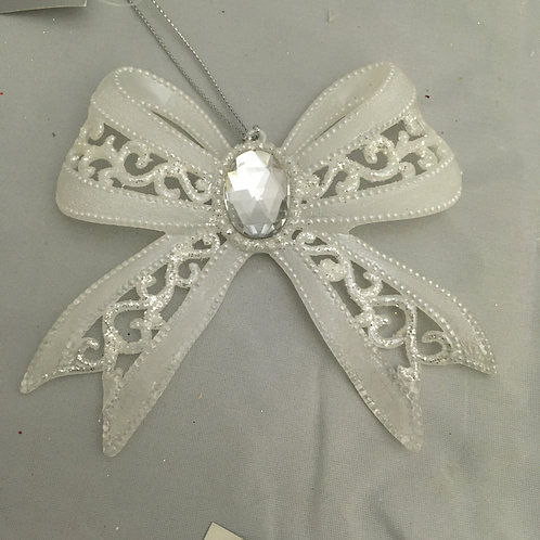 White bow tree ornament