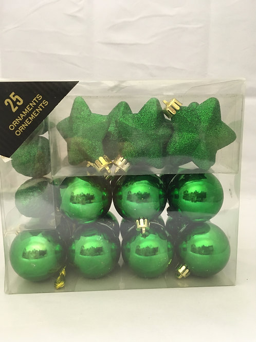 Small green assortment of baubles