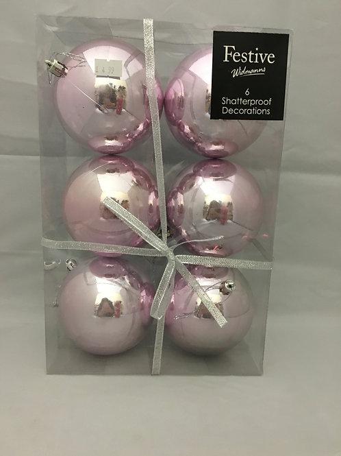Pink shatterproof baubles
