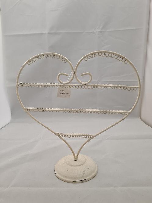 Metal heart hanger