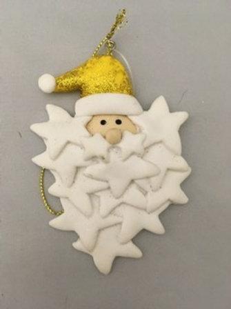 Handmade Santa tree ornament