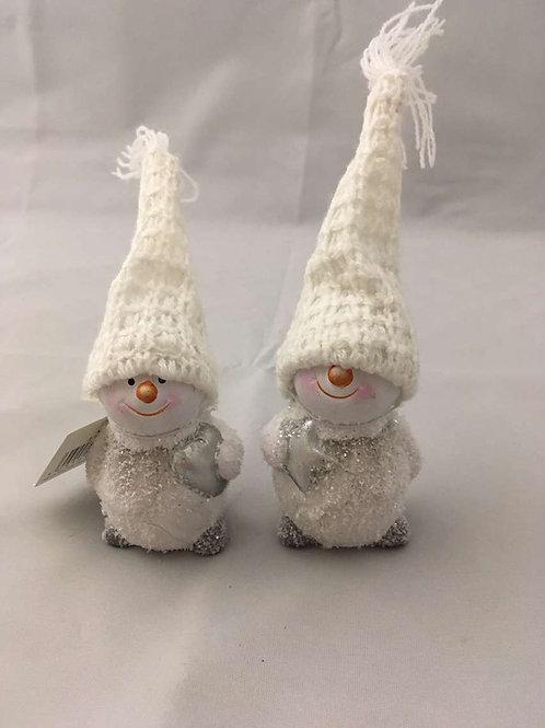 Mini snowmen with big hats