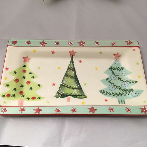 Christmas tree tea tray