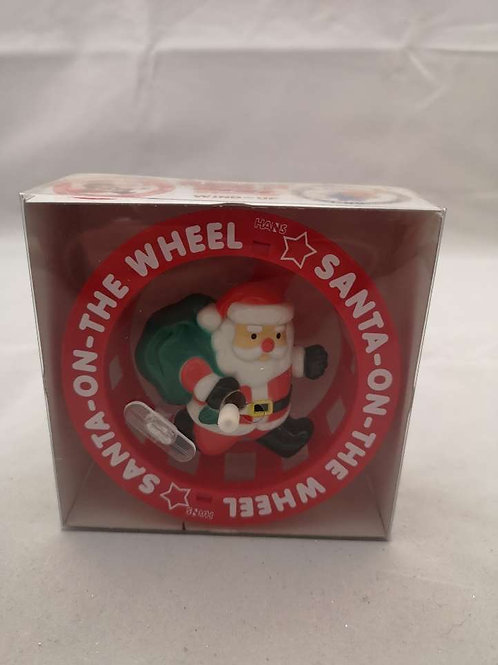 Wind up Santa on the wheel