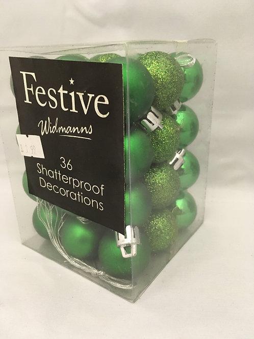 Mini green tree ornaments