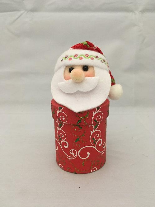 Small Santa cylinder  gift box