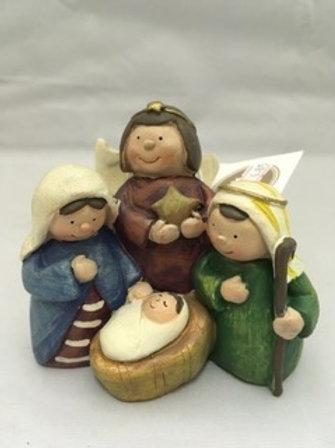 Ceramic nativity ornament