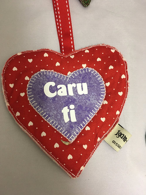 Welsh heart fabric tree ornament