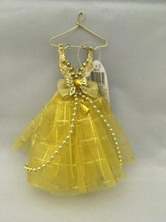 Golden dress tree ornament
