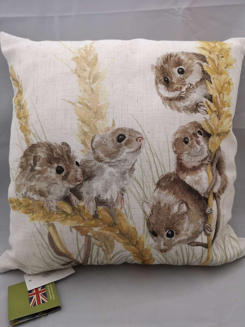 Woodland fieldmice cushion