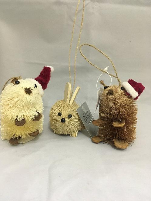 Strawlike mice tree decoration