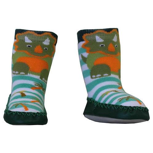 Dinosaur Moccasin Slippers