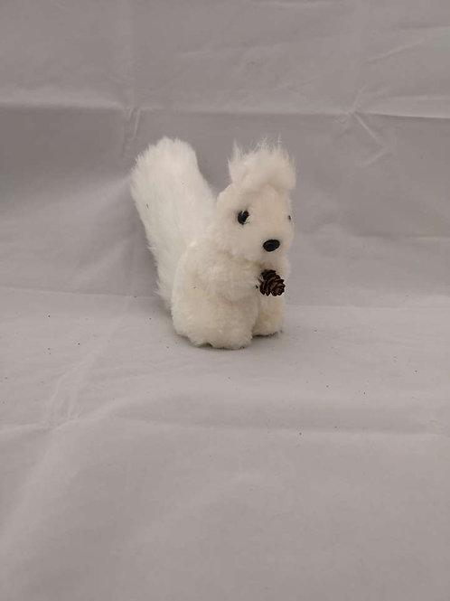 Fluffy squirrel ornament