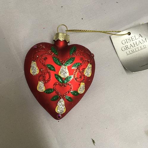 Decorative heart tree ornament