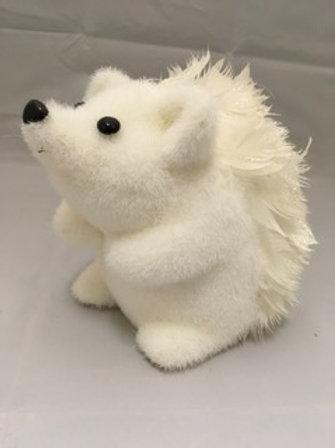 White Christmas hedgehogs