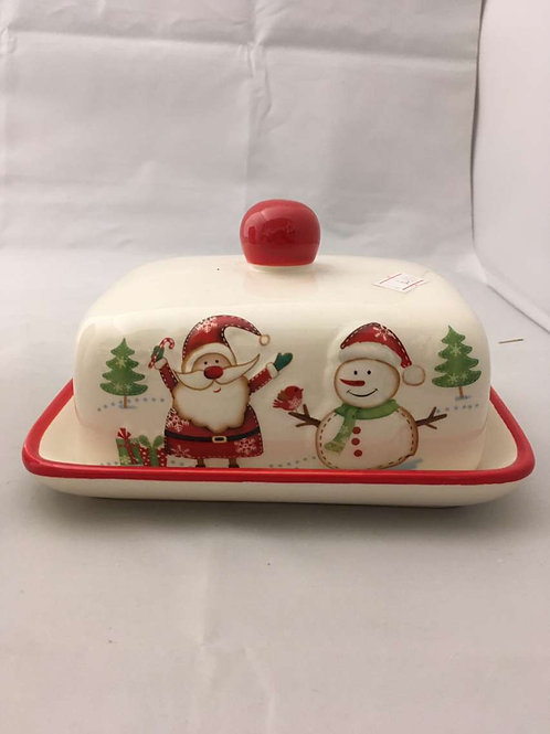 Christmas butter dish