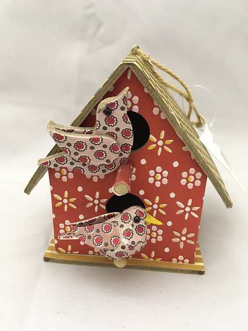 Decorative tree box with birds
