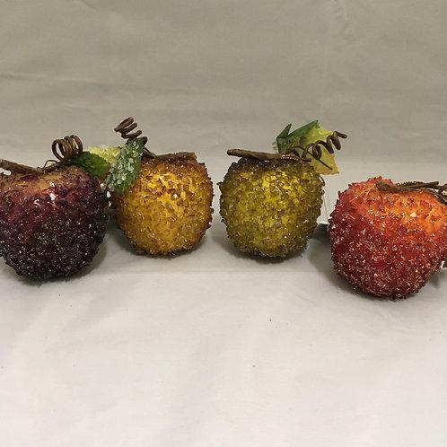 Crystaline apple tree ornaments