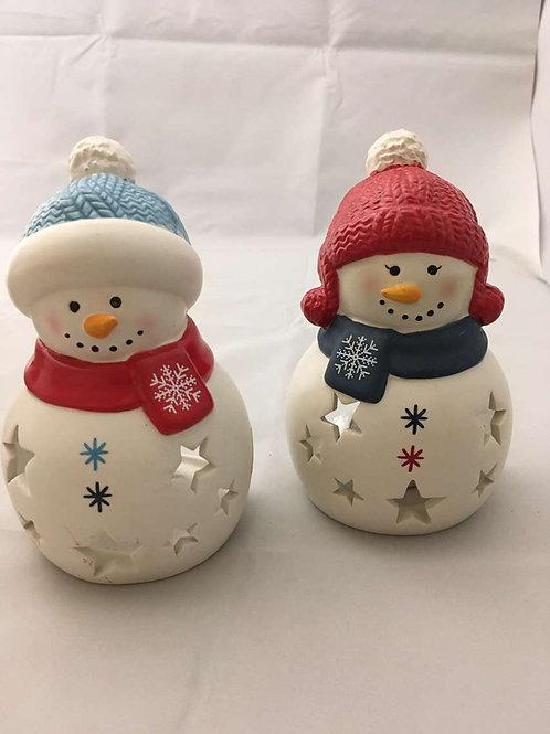 Ceramic snow men