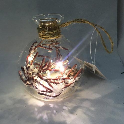 Light up twig tree ornament