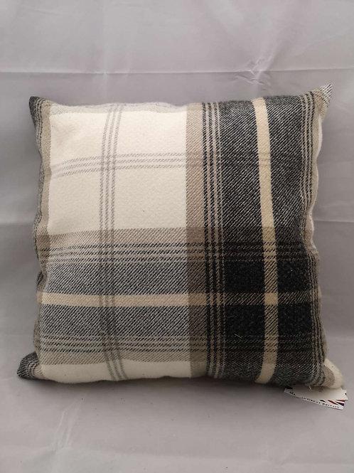 Charcoal Balmoral cushion