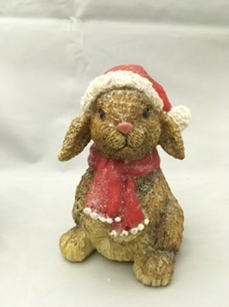 Christmas rabbit ornament