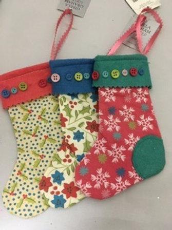 Mini stockings tree ornament