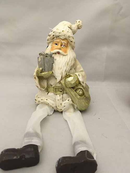 Santa ornament with dangly legs
