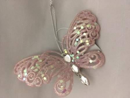Sparkly butterfly tree ornament