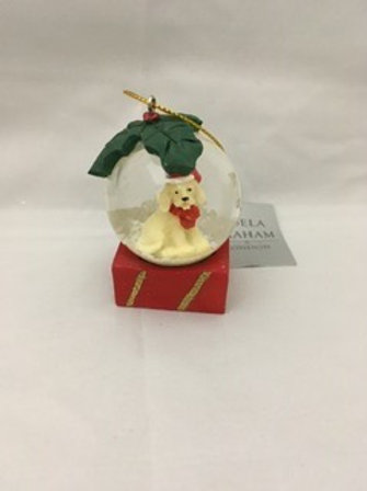 Mini dog snow globe
