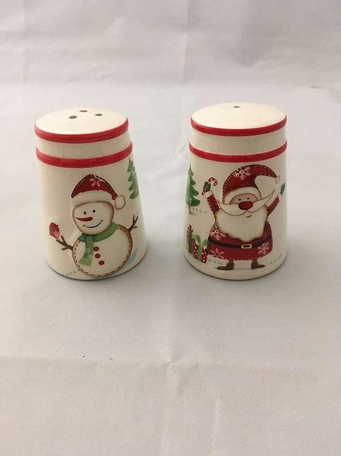 Christmas salt and pepper jars