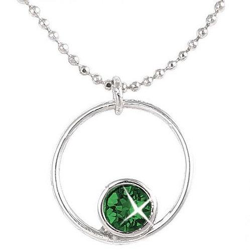 Birthstone Circle Pendant -May
