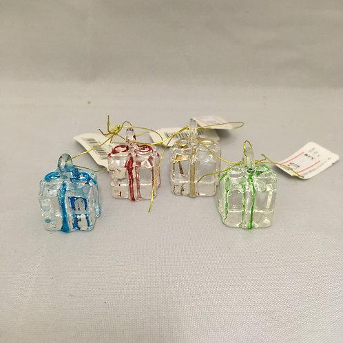 Mini present tree ornaments