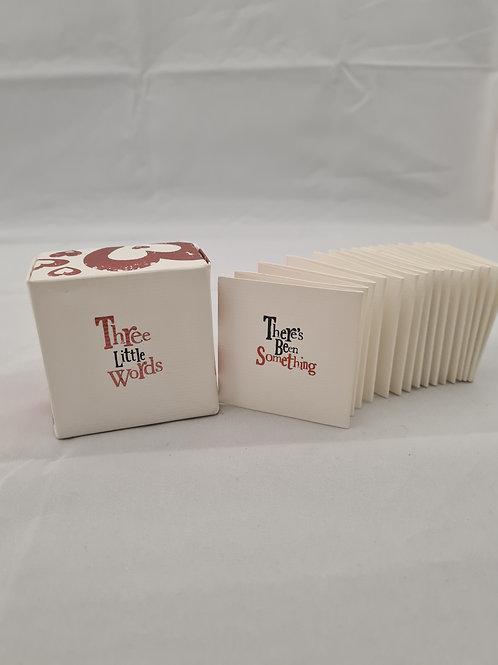 Three little words box