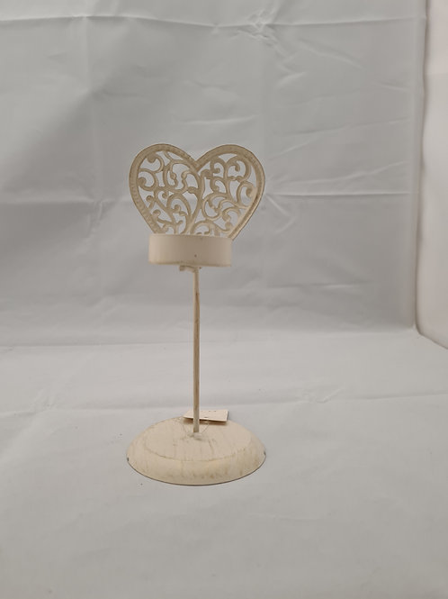 Heart and stand candle holder