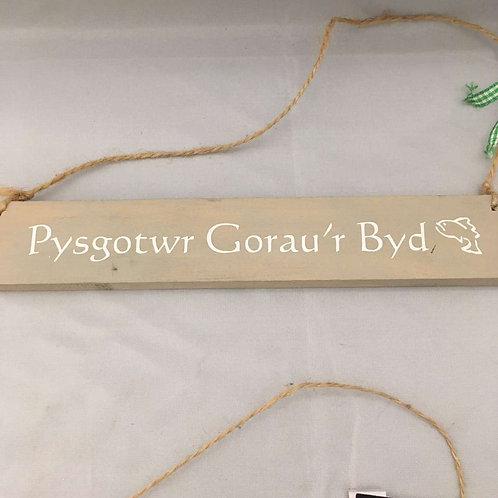 Pysgotwr gorau'r byd wooden sign